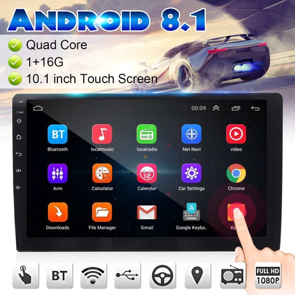 7/9/10.1 Inch Android 8.1 Car Stereo 2DIN bluetooth WIFI GPS Nav Quad Core Radio Video MP5 Player Multimedia 1+16G