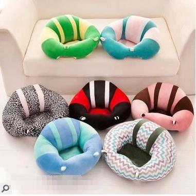 Baby Support Seat Plush Soft Baby Sofa Seat Infant safe Pillow Cushion Sofa For 3-6 Months Sitting Learning Posture