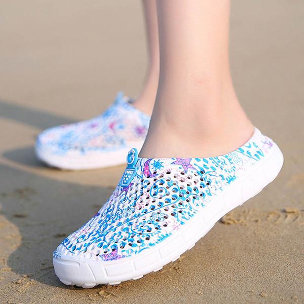 MUQGEW Respirável Sapatos Mulheres Sandálias Senhoras Sandálias de Praia Oco Out Casual Chinelos Apartamentos Sapatos Ao Ar Livre À Prova D 'Água Plus Size