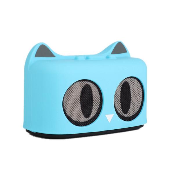 Mini Altavoz Inalámbrico con Gato de Dibujos Animados Bluetooth Con Potente Sala Rica Sonido de Relleno 3W Controlador de Audio USB Radio FM Subwoofer