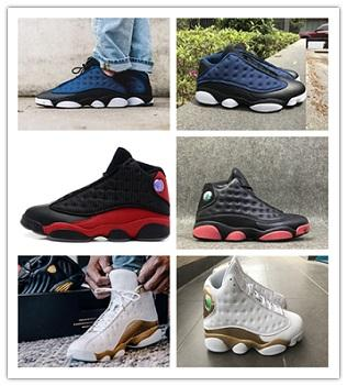 High Quality 13 Bred Chicago Flint Atmosphere Grey Men Women Basketball Shoes 13s He Got Game Melo DMP Hyper Royal Sneakers With Box