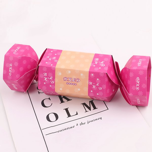 Hot Rose veille de Noël Papier cadeau mignon de sucrerie forme actuelle boîte pour le mariage Favor baby shower anniversaire Dessert Décor Party événement