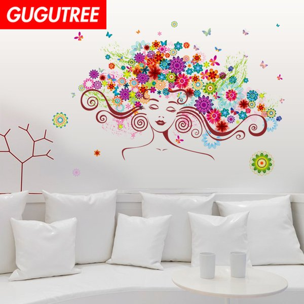 Decorate Home flower girl belle cartoon art wall sticker decoration Decals mural painting Removable Decor Wallpaper G-1810