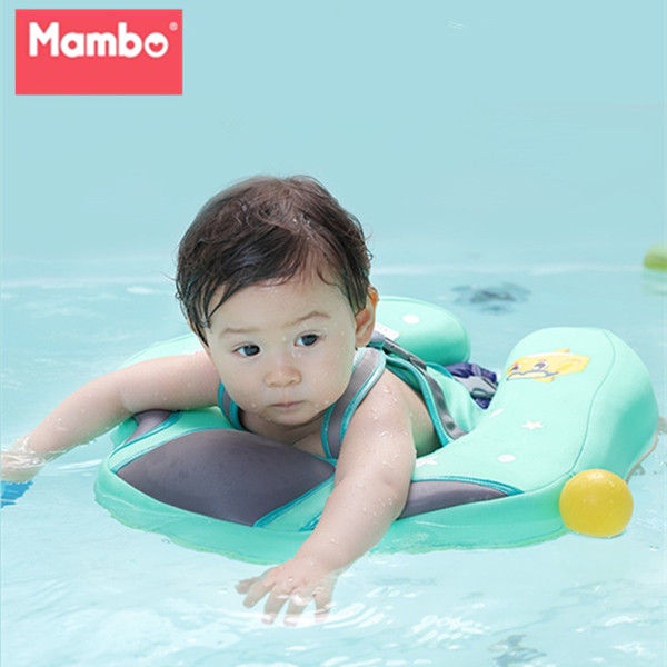 top popular Free Inflatable Baby Swimming Ring floating Children Waist No inflation Floats Swimming Pool Toy for Bathtub and Swim Trainer 2019