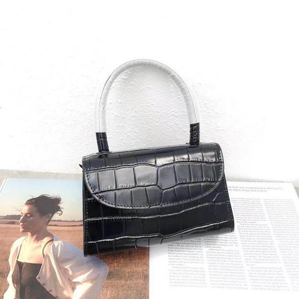 Elegant2019 Small Woman Bag Square Package Ins Niche Design Crocodile Lines Mini- Hand Bill Of Lading Shoulder Satchel