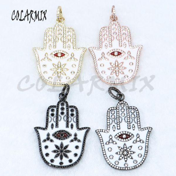 5 pieces Fatima hand pendants eye pendants Maya hand pendant  crystal jewelry wholesale jewelry finding 5069