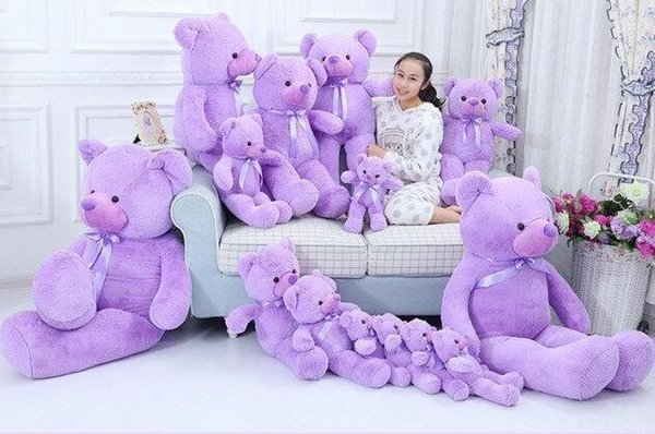 Manufacturer's New Fat Version Lavender Cubs Teddy Bear Doll Creative Toy Tanabata Valentine's Day Gift