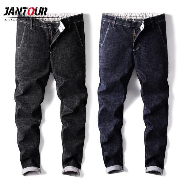 Jantour Men Jeans Pantalones Estilo Coreano Azul para hombre Skinny Jeans Hombre Slim Fit Pantalones elásticos Pantalones de mezclilla de los hombres ocasionales masculinos