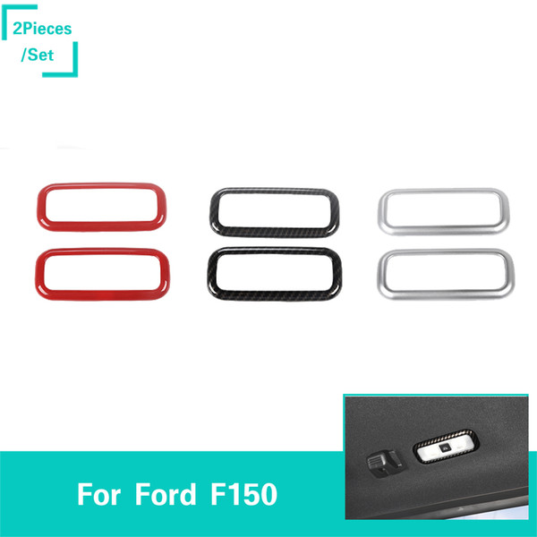 ABS Car Rear Reading Lamp Ring Decoration Cover Fit Ford F150 2016 UP Car Styling Accessories