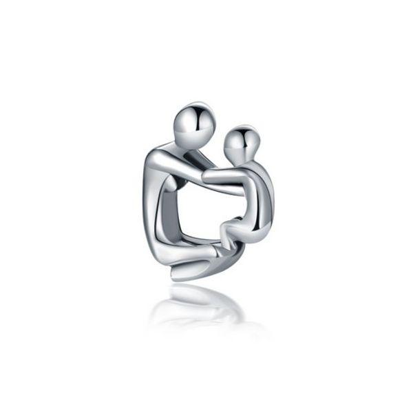 Wholesale Silver Charm Beads 30pc Mother & Son European Charms Bead Big Hole Fit Pandora Snake Chain Bracelet Necklack Fashion DIY Jewelry