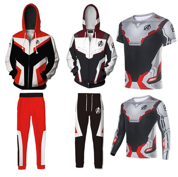 Avengers Endgame Quantum Realm Felpa Giacca Advanced Tech Felpa con cappuccio Costumi Cosplay 2019 nuovo supereroe Iron Man Felpa con cappuccio