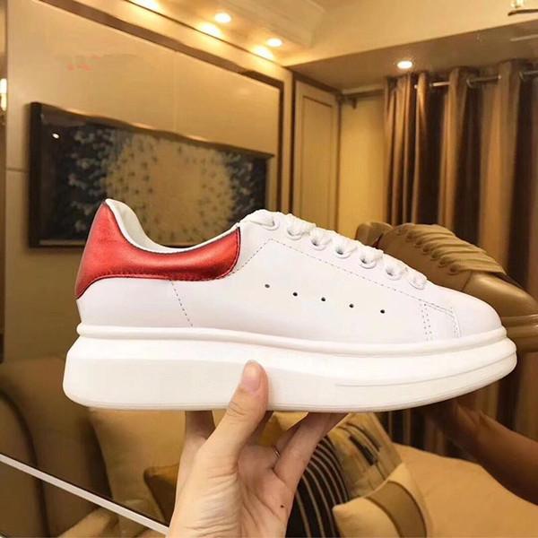 Scarpe casual in pelle 2019 Luxury Fashion Classic Piattaforma Trainer delle donne degli uomini della Marina della pelle di serpente 3M Sneakers Velvet Chaussures