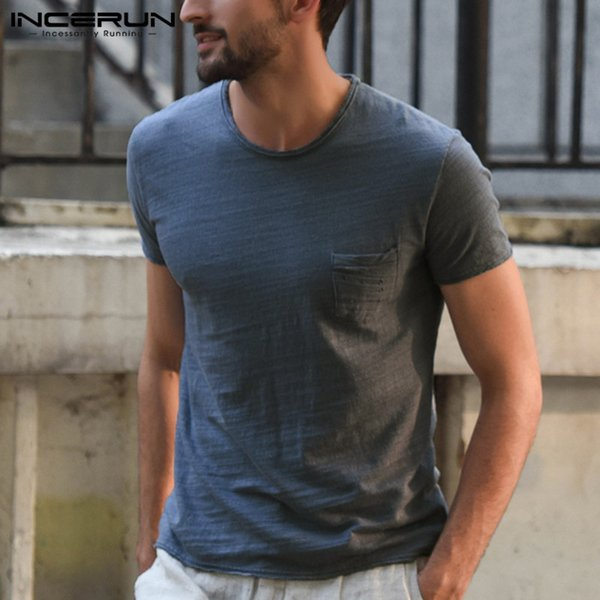 Fashion 2019 T Shirts Men Shirts Short Sleeve Male Tops Summer Male Clothing Camisas Hombre Slim Fit Joggers Muscle Tee Man Tops