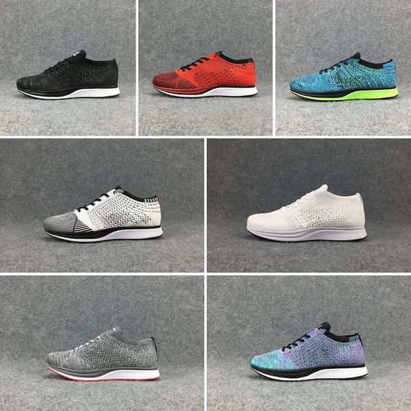 Nike Flyknit Racer Be True Vendita calda 2018 alta qualità Flywire Knit Racer Uomo Donna Casual Scarpe oreo 2.0 Jogging Sneakers Multicolore Athletic linea mosca Scarpe