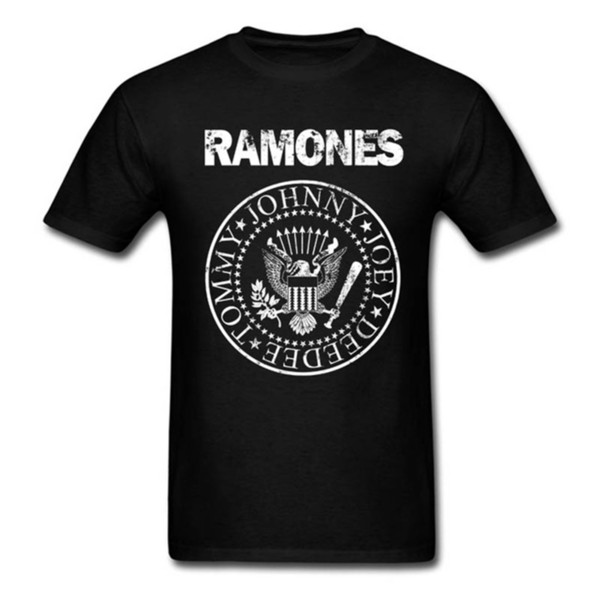 Ramones T-shirt Men Women Punk Rock Band Music Logo Vintage Tops Tee Shirts Cotton Short Sleeve Burnout Tshirt Harajuku Korean J190614