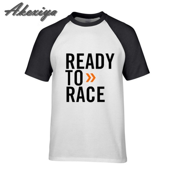 2019 design Mens T-Shirt Ready to Race tshirt Men 100% Cotton Clothing Letter Art printed Punk Tee Casual T Shirt Man Website