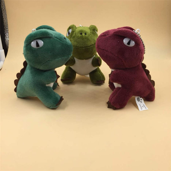NEW 1Pcs Kawaii Jurassic Dinosaur Doll Cute Animal Tyrannosaurus Rex Colorful Plush Toys Keychain Bag Child Pendant Toys Gifts