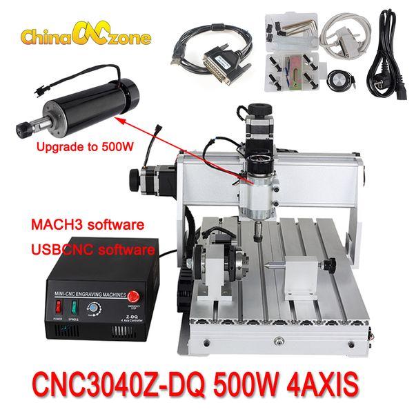 mini cnc 3040 router engraver ball screw milling engraving machine 500w cnc 3040z-dq usb mach3 wood router ball screw