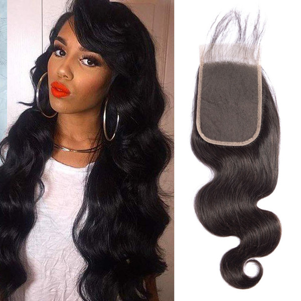 Brazilian Virgin Hair 4X6 Lace Closure Body Wave Remy Hair 4X6 Closure Middle Three Free Part Body Wave Four By Six Closure 8-20inch