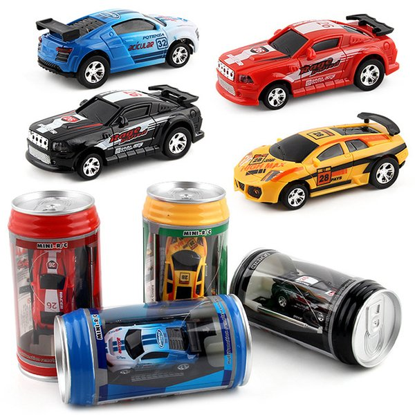 Hot Sale 1/63 Mini RC High-Speed Drifting Off-Road Car Pull-Ring Can Toy Gift For Children Plastic Drift Car Cool Light