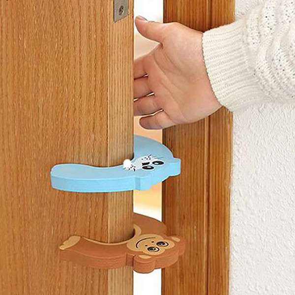 best selling 5pcs lot Silicone Doorways Gates Decorative Door Stopper Baby Safety Care Cartoon Animal Kid Children Protection