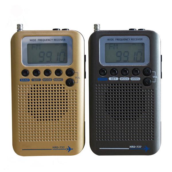 Ricevitore radio banda Aircraft VHF Registratore radio portatile banda completa per AIR / FM / AM / CB / VHF / SW