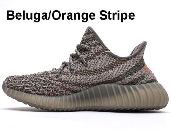 Beluga / Orange Streifen