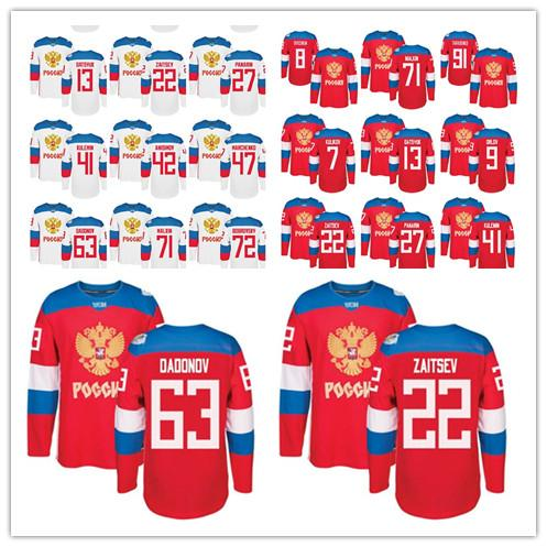 best selling Olympic Russia zaitsev panarin kulemin anisimov narchenko oaoonov jersey and other name and number jersey.