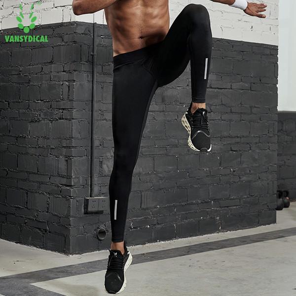 Vansydical Medias de compresión para hombre Pantalones para correr  Estiramiento Gimnasio Gimnasio Entrenamiento Leggings Medias Pantalones 1123953a7da45