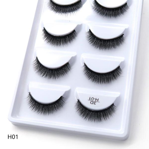 H serie 20 stil 5 paare / satz 3D nerz Falsche Wimpern 5 Paare 3D Natürliche Lange Wimpern Wimpern