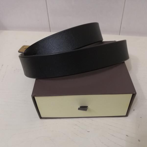 top popular 2018 Designer Belts for Mens Belts Designer Belt Luxury Belt Leather Business Belts Women Big Gold Buckle Gift With Box L8868 2019