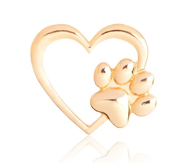 2019 New Sales Silver Gold Color Love Heart Paw Lapel Pin Pet Paw Print Pet  Loss And Pet Memorial Pins Jewelry Dog Cat Lover Gifts 187 From Eleng,