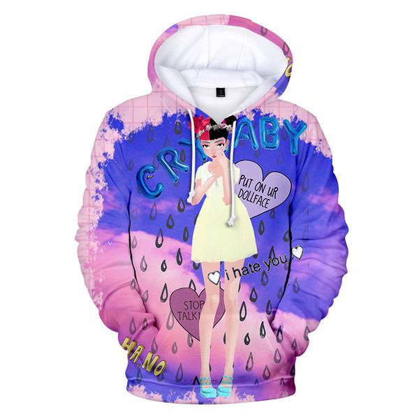 Teenager Girl Women Hoodie Designer Crybaby 3D Printed Hooded Sweatshirts Cute Pullovers