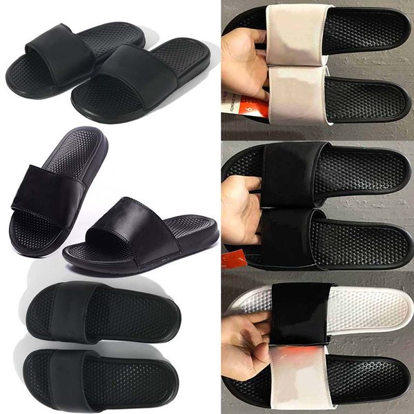 Strand Sandalen Designer Schuhe Luxus Slide Sommer Mode Breite Flache Slippery Sandalen Slipper Flip Flop größe 35-46