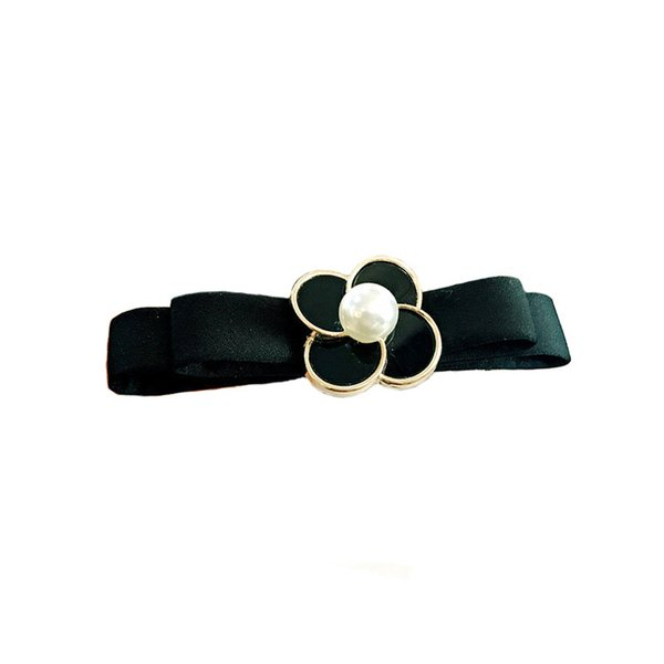 Four-leaf clover hair clip ponytail double-layer bow spring clip fashion korean hair bows hairgrips for women accessories