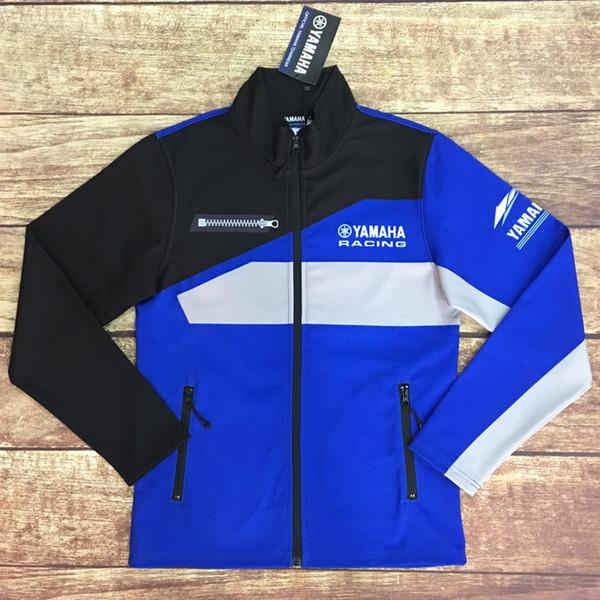 Windproofmens motorrad hoodie racing moto reiten hoody bekleidung jacke männer quer zip jersey sweatshirts mantel staubmantel yamaha