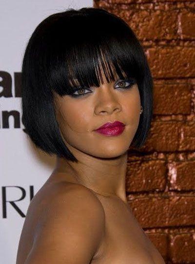 Beaudiva Short Bob Wigs Natural Colour In Stock Parrucche brasiliane diritte per capelli umani con frangia per donne nere