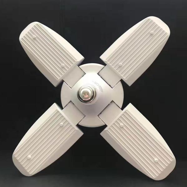 Spezielle Lampe 45W E27 LED Birne führte verformbare Lampe SMD2835 Super helle faltbare Ventilatorflügel-Winkel-justierbare Deckenleuchten-Hauptenergieeinsparung