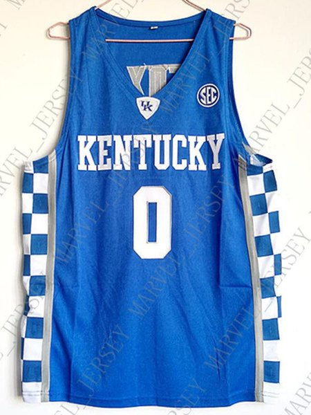 new products 666da 3c859 2019 Cheap Wholesale DeAaron Fox Jersey Kentucky Wildcats Blue White Sewn  Customize Any Name Number MEN WOMEN YOUTH Basketball Jersey From ...