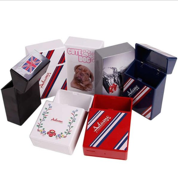 Творческий утолщение жесткий футляр и мягкая коробка новая односторонняя цветная печать пластиковых сигареты