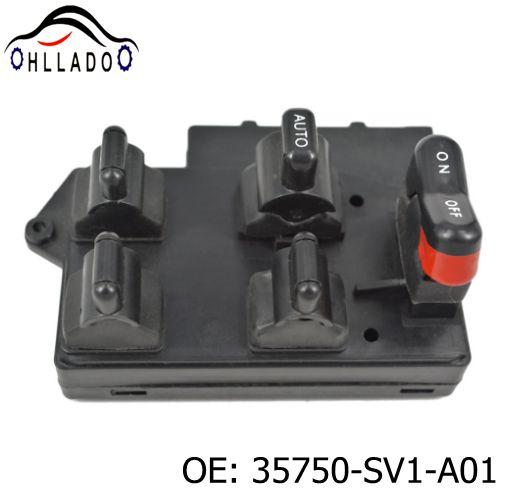 top popular HLLADO New 4 Door Power Main Glass Switch 35750-SV1-A01 Window Switch For H onda Accord 1994-1997 35750SV1A01 Car Casement Lifter Switch 2021