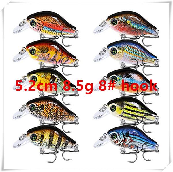 5.2cm 8.5g 8# hooks