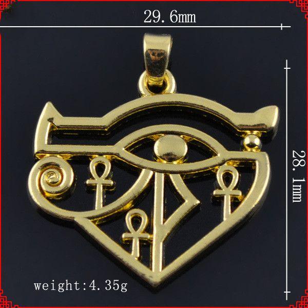 Мода металлический золотой цвет Индийский Стиль Золотой Глаз Гора Кобра Подвески подвески для ожерелье браслет серьги DIY изготовление ювелирных изделий
