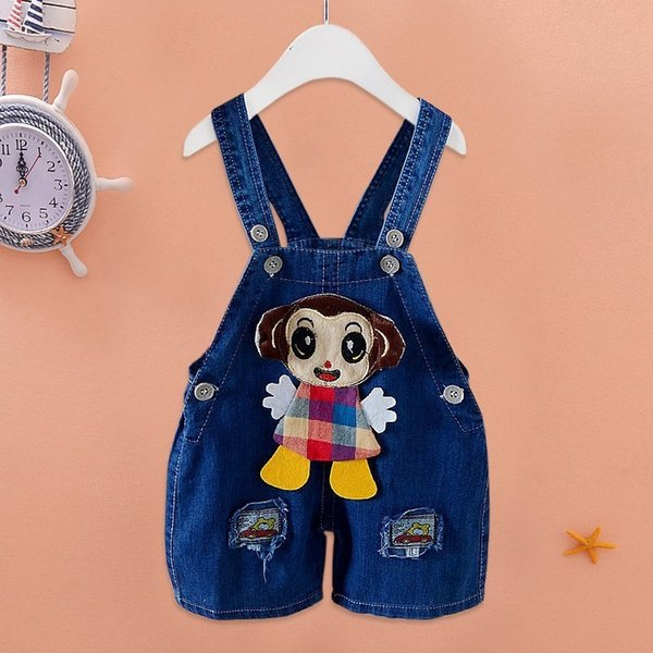 good quality baby girls summer overalls bib pants new style fashion cute lovely girls clothing bib pants infant child jeans overall