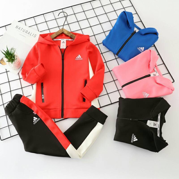 Two Piece Outfits Children Clothes Style Pure Cotton Suit Tide spring and autumn Clothing Girls Set Boys 0919
