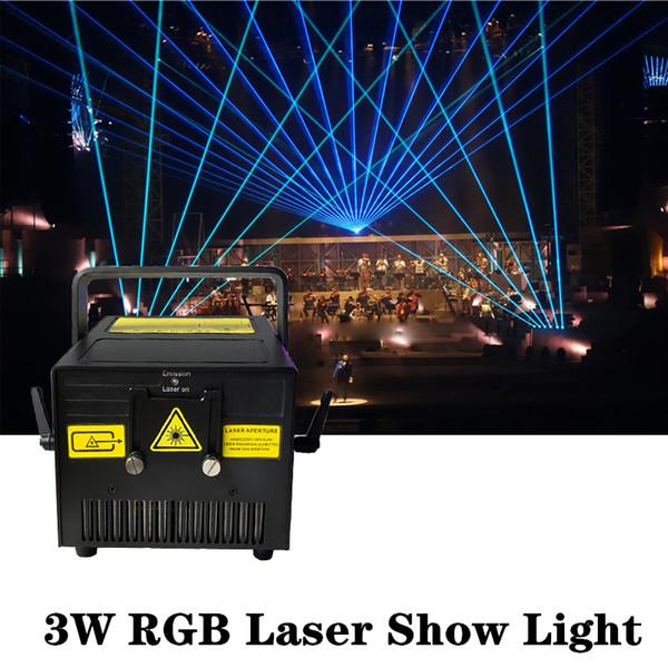 Super mini 40 KPSS scanner 3W 3000MW RGB diodo luce laser di animazione Visualizza analogico modulazione Party concerto DJ CLUB