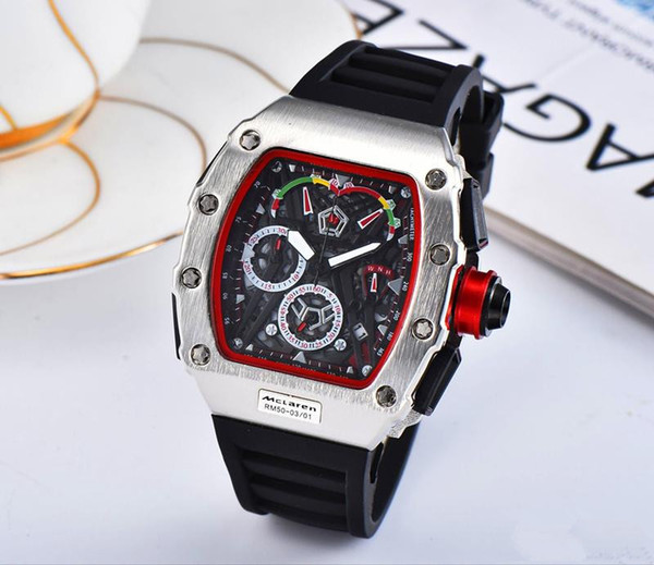 3A Mens Watches Top Brand Luxury Quartz Watch Men Casual Rubber band Military Waterproof Sport Wristwatch stainless steel relojes