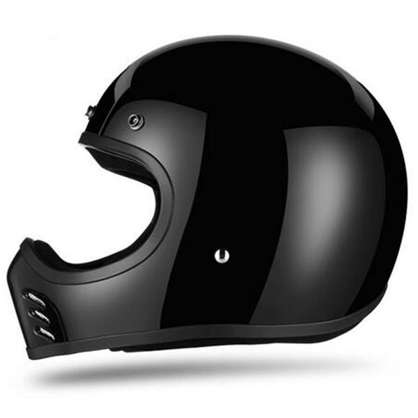 Adultos de la motocicleta de la cara llena del casco de bicicleta de montaña que compite con cascos de luz fuera del camino DH Cruz