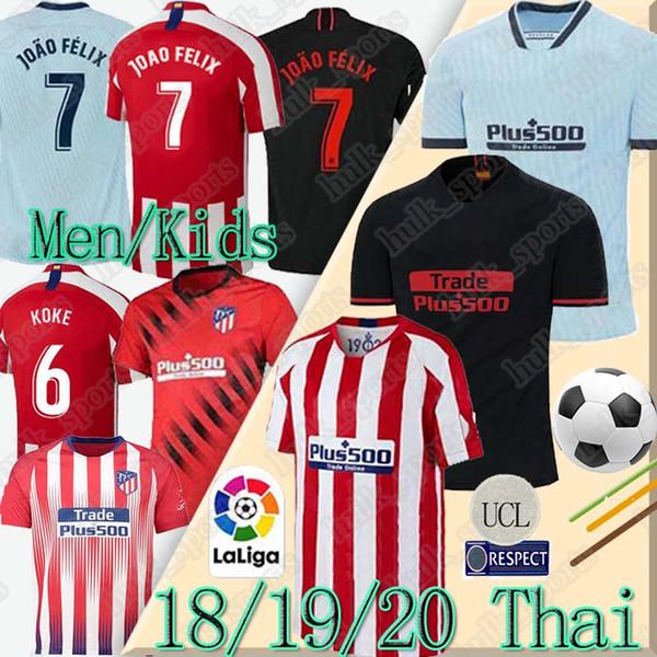 Tailandia 19 20 JOÃO FÉLIX Atlético de Madrid de fútbol de los jerseys 2019 2020 JOAO FELIX LLORENTE Griezmann camiseta de futbol camisetas de fútbol de fútbol