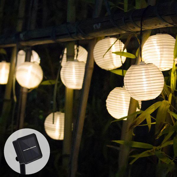 Solar Lamp String Lights Lantern Ball 10/20 LED Solar Garland Outdoor Fairy Lights Christmas Lighting for Garden Decoration